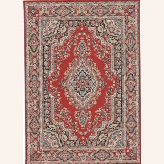 Roter Teppich, orientalisches Muster