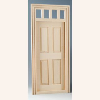 Tür mit kleinem Oberlicht im Dresdner Puppenhaus, 10,00 €