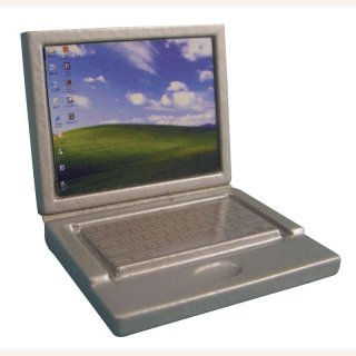 Silberner Laptop