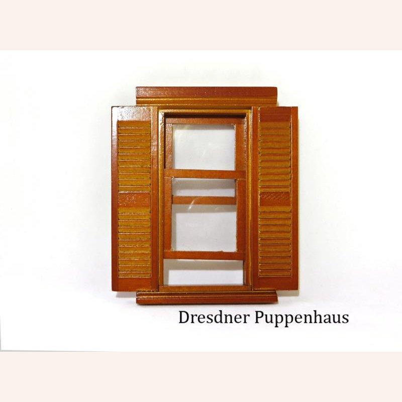Fenster mit fensterl den in walnuss im dresdner puppenhaus - Puppenhaus fenster ...