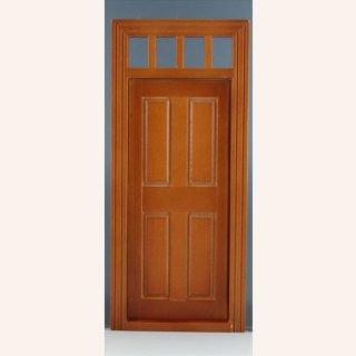 Tür in Walnuss mit kleinem Oberlicht im Dresdner Puppenhaus, 12,00 €
