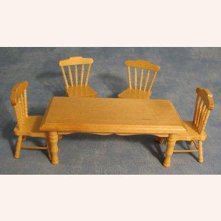 pinie esstisch und 4 st hle im dresdner puppenhaus 25 70. Black Bedroom Furniture Sets. Home Design Ideas