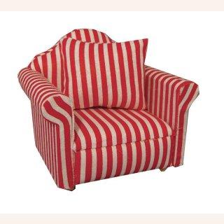 sessel rot, sessel rot/weiß gestreift im dresdner puppenhaus, 5,99 €, Design ideen