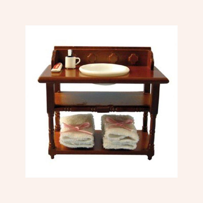 antiker waschtisch in walnuss im dresdner puppenhaus 15 00. Black Bedroom Furniture Sets. Home Design Ideas