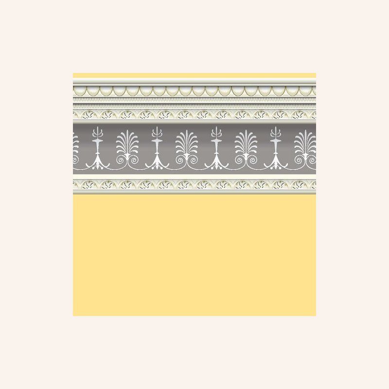 tapete mit bord re hellgelb im dresdner puppenhaus 3 50. Black Bedroom Furniture Sets. Home Design Ideas