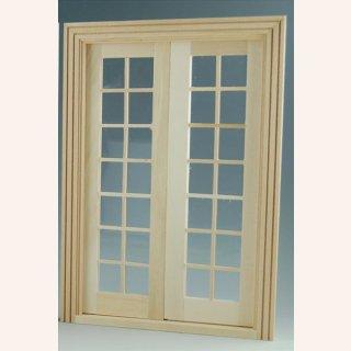 Große Doppelflügeltür Mit Fenster