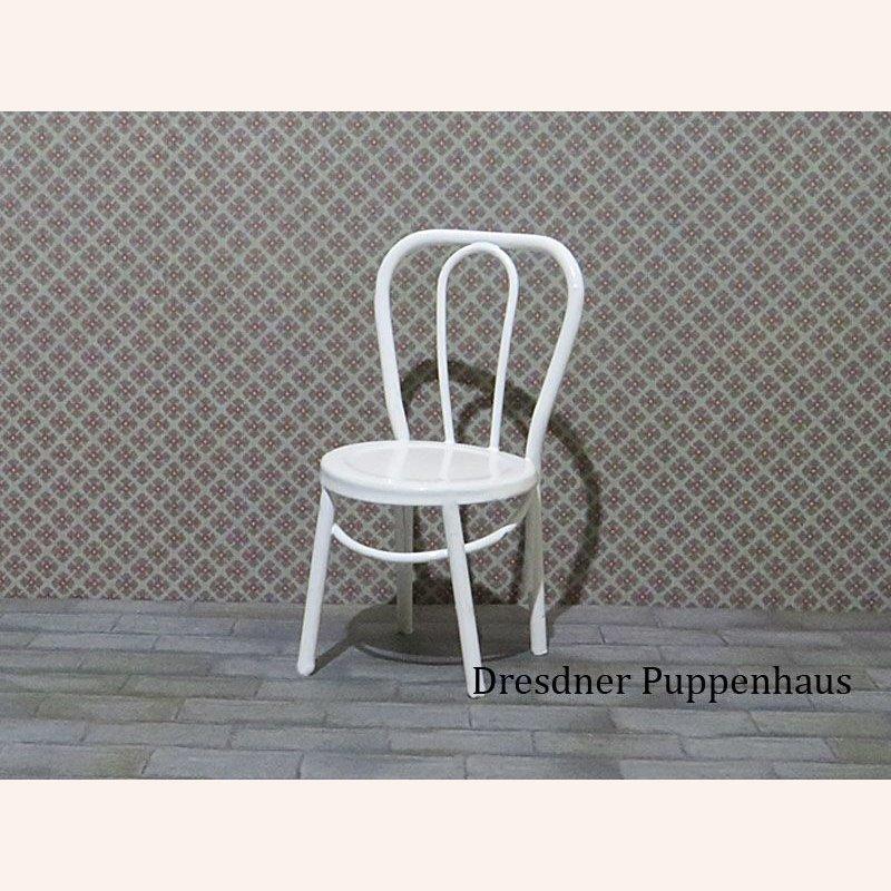 wei er metallstuhl im dresdner puppenhaus 5 55. Black Bedroom Furniture Sets. Home Design Ideas