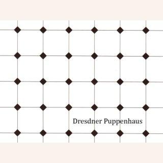 Fliesentapete Schwarz Weiss Tapete Im Dresdner Puppenhaus 3 50