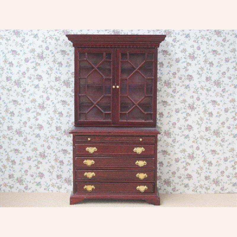 schrank mahagonifarben 2teilig im dresdner puppenhaus 19 90. Black Bedroom Furniture Sets. Home Design Ideas