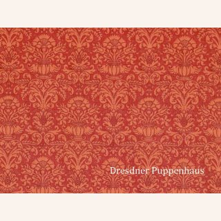 tapete damask rot mit muster papier - Tapete Rot Muster