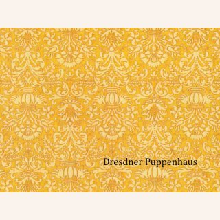 Tapete Damask gold mit Muster, Papier
